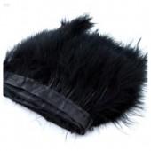 1 м. Черный цвет. Тесьма из перьев боа. Ширина 12-15 см.