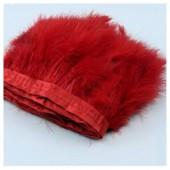 1 м.  Красный цвет. Тесьма из перьев боа. Ширина 12-15 см.