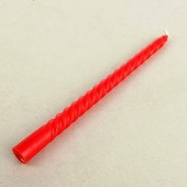 1 шт. Свеча классическая. Красный цвет.. 2 см х 2 см х 25 см