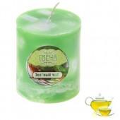 6х6х8 см. Зеленый чай. Свеча лед ароматическая.