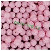 Розовый цвет. Ежики. Бусинки цветные акриловые круглые. Bayberry. 14 мм. 20 шт. #4