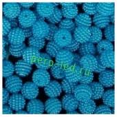 Голубой цвет. Ежики. Бусинки цветные акриловые круглые. Bayberry. 14 мм. 20 шт. #5
