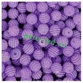 Фиолетовый цвет. Ежики. Бусинки цветные акриловые круглые. Bayberry. 14 мм. 20 шт. #9