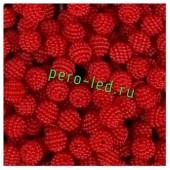 Красный цвет. Ежики. Бусинки цветные акриловые круглые. Bayberry. 14 мм. 20 шт. #8