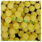 Желтый цвет. Ежики. Бусинки цветные акриловые круглые. Bayberry. 16 мм. 20 шт. #4