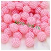 Розовый цвет. Ежики. Бусинки цветные акриловые круглые. Bayberry. 16 мм. 20 шт. #3
