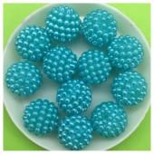 14 мм. 50 гр. Голубой цвет. Шамбала бусинки № 5