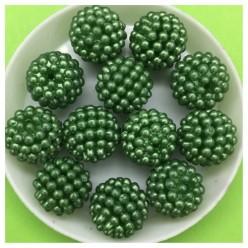 14 мм. 50 гр. Зеленый цвет. Шамбала бусинки № 7