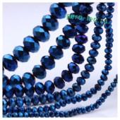 Синий зеркальный цвет. Круглые граненые бусины. OlingArt  10 мм. 70 шт+/-2 шт. # 28