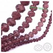 Фиолетовый прозрачный цвет. Круглые граненые бусины. OlingArt  10 мм. 70 шт+/-2 шт. #37