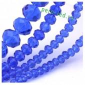 Синий прозрачный цвет. Круглые граненые бусины. OlingArt  10 мм. 70 шт+/-2 шт. #22