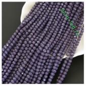 Фиолетовый матовый цвет. Круглые граненые бусины. OlingArt  10 мм. 70 шт+/-2 шт. #38