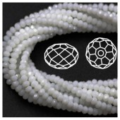 Белый цвет. Круглые граненые бусины. OlingArt  10 мм. 70 шт+/-2 шт. #3