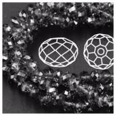 Черный прозрачный цвет. Круглые граненые бусины. OlingArt  10 мм. 70 шт+/-2 шт. #49