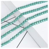 Голубой цвет. Круглые граненые бусины. OlingArt  2 мм.150 шт+/-5 шт.  #39