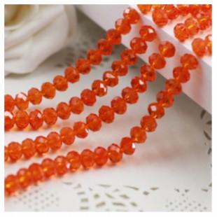 Красно-оранжевый цвет. Круглые граненые бусины. OlingArt  2 мм 150 шт+/-5 шт.  #28