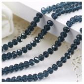 Серо-синий цвет. Круглые граненые бусины. OlingArt  2 мм.150 шт+/-5 шт.  #48