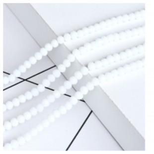 Белый цвет. Круглые граненые бусины. OlingArt  2 мм 150 шт+/-5 шт.  #20