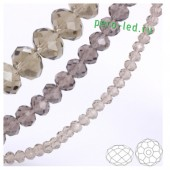 Серый прозрачный цвет. Круглые граненые бусины. OlingArt  2 мм.150 шт+/-5 шт.  #40