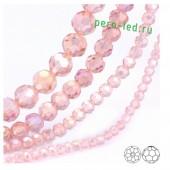 Розовый цвет. Круглые граненые бусины. OlingArt  2 мм 150 шт+/-5 шт.  #32