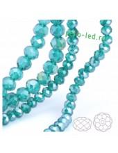 Голубой хамелеон цвет. Круглые граненые бусины. OlingArt  2 мм.150 шт+/-5 шт.  #47