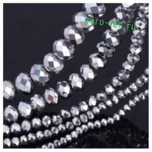 Серебро цвет. Круглые граненые бусины. OlingArt  2 мм 150 шт+/-5 шт.  #24