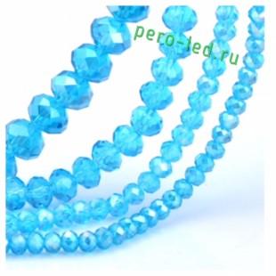 Голубой цвет. Круглые граненые бусины. OlingArt  2 мм 150 шт+/-5 шт.  #5
