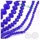 Синий цвет. Круглые граненые бусины. OlingArt  2 мм 150 шт+/-5 шт.  #30