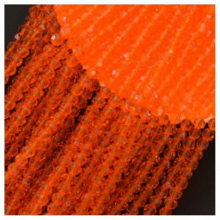 Желто-оранжевый цвет. Круглые граненые бусины. OlingArt  2 мм.150 шт+/-5 шт.  #37