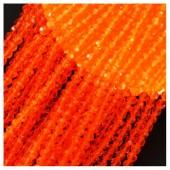 Оранжевый прозрачный цвет. Круглые граненые бусины. OlingArt  2 мм.150 шт+/-5 шт.  #36