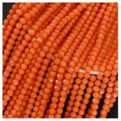 Оранжевый матовый цвет. Круглые граненые бусины. OlingArt  2 мм.150 шт+/-5 шт.  #35