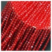 Красный цвет. Круглые граненые бусины. OlingArt  2 мм.150 шт+/-5 шт.  #26