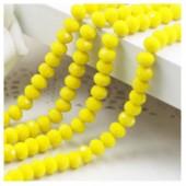 Желтый матовый цвет. Круглые граненые бусины. OlingArt  4 мм. 150 шт+/-5 шт. #44