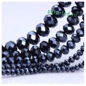 Черный хамелеон цвет. Круглые граненые бусины. OlingArt  4 мм. 150 шт+/-5 шт. #21