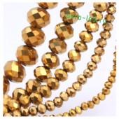 Золото цвет. Круглые граненые бусины. OlingArt  4 мм. 150 шт+/-5 шт. #32