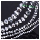 Серебро цвет. Круглые граненые бусины. OlingArt  4 мм. 150 шт+/-5 шт. #9