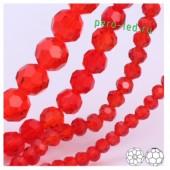Красный прозрачный цвет. Круглые граненые бусины. OlingArt  4 мм. 150 шт+/-5 шт. #23