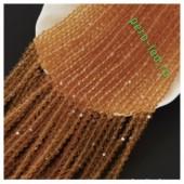 Янтарь прозрачный цвет. Круглые граненые бусины. OlingArt  4 мм. 150 шт+/-5 шт. #49
