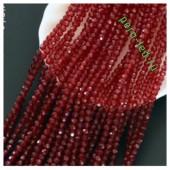 Бордо прозрачный цвет. Круглые граненые бусины. OlingArt  4 мм. 150 шт+/-5 шт. #53