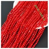 Красный матовый цвет. Круглые граненые бусины. OlingArt  4 мм. 150 шт+/-5 шт. #24