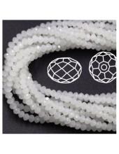 Белый хамелеон цвет.  Круглые граненые бусины. OlingArt  4 мм. 150 шт+/-5 шт. #1