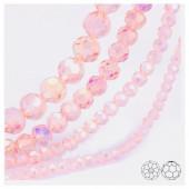 Розовый хамелеон цвет. Круглые граненые бусины. OlingArt  4 мм. 150 шт+/-5 шт. #7