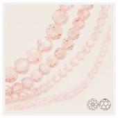 Розовый цвет. Круглые граненые бусины. OlingArt  4 мм. 150 шт+/-5 шт. #18