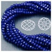 Синий матовый цвет. Круглые граненые бусины. OlingArt  4 мм. 150 шт+/-5 шт. # 48