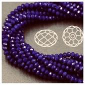 Синий цвет. Круглые граненые бусины. OlingArt  4 мм. 150 шт+/-5 шт. #11