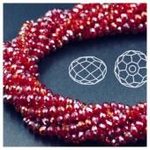 Красный хамелеон цвет. Круглые граненые бусины. OlingArt  4 мм. 150 шт+/-5 шт. #25