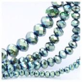 Зеленый цвет. Круглые граненые бусины. OlingArt  6 мм. 100 шт+/-3 шт. #30