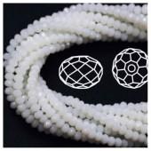 Белый цвет. Круглые граненые бусины. OlingArt  6 мм. 100 шт+/-3 шт. #33