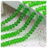Зеленый прозрачный цвет. Круглые граненые бусины. OlingArt 8 мм. 70 шт+/-2 шт. #8