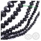 Черный цвет. Круглые граненые бусины. OlingArt  8 мм. 70 шт+/-2 шт. #48